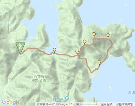 Sharp Peak‧Hiking in Hong Kong - WalkOnHill.com on google map taiwan, google map singapore, google map kowloon tong, google map ne, google map china, google map kowloon hong kong, google map br,