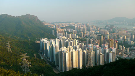 Kowloon beneath Kowloon Peak