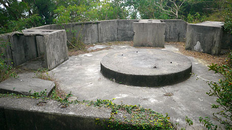 The remnant of a deserted battery